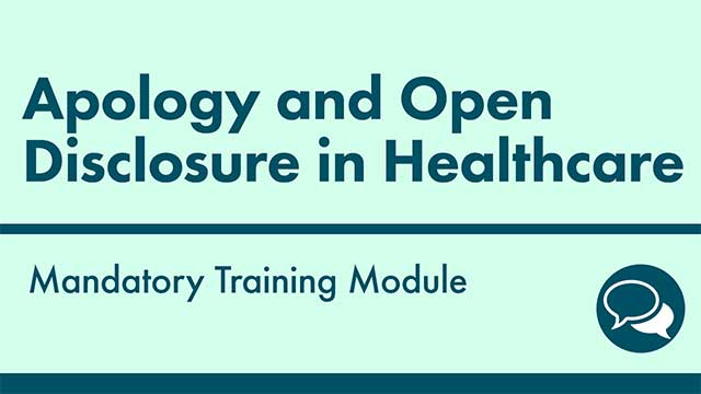 Cover image for: Apology and Open Disclosure in Healthcare