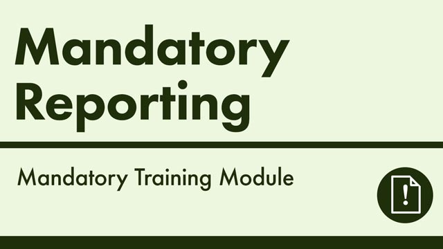 Cover image for: Mandatory Reporting