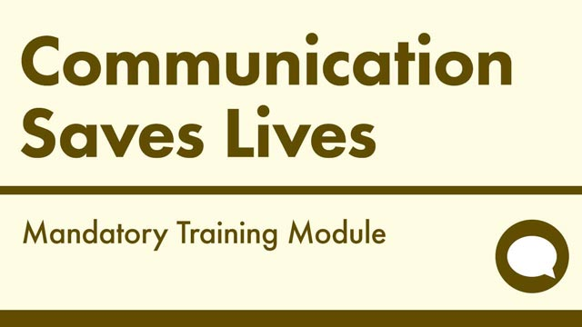 Cover image for: Communication Saves Lives